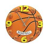 Vorcool Einzigartige Uhr in Basketform, 30 cm, leise, ohne Ticken, Wanduhr, für Kinderzimmer, Wohnzimmer