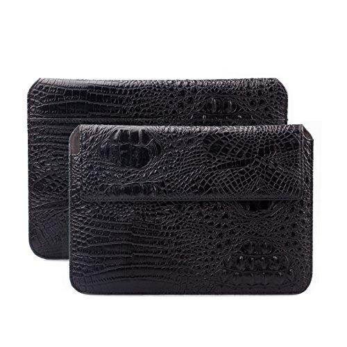 Apple-iPad-Air-2-Case-Samsung-Galaxy-Tab-S3-und-S2-97-Tasche-passend-fr-80-bis-101-Zoll-Tablets-Croc-Optik-schwarz-iCues-Piquante-Etui-weitere-Leder-Imitat-und-Farbvarianten-verfgbar-universelle-Schut
