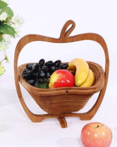 Pliante Panier de fruits Bambou - en forme de pomme