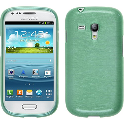 PhoneNatic Custodia Compatibile con Samsung Galaxy S3 Mini Cover Verde Brushed Galaxy S3 Mini in Silicone Cover