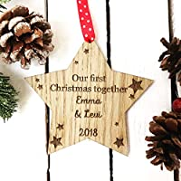 First Christmas Together personalised gift for her or him to celebrate new home or couple 7cd