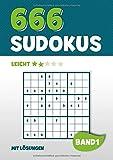 666 Sudokus: Rätselbuch mit 666 leicht zu lösende Sudoku Puzzle Rätsel im 9x9 Format mit Lösungen | DIN A4 | Band 1 - Visufactum Rätsel