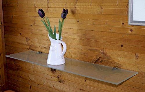 Glasboden Glasplatte Glasregal Glasscheibe 6-8 mm verschiedene Größen Milchglas (8x500x200mm)