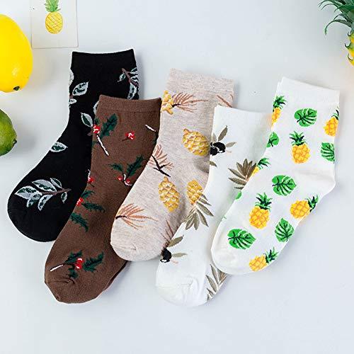XdiseD9Xsmao Unisex Leaves Ananas-Print Design Niedrig Geschnittene Socken Strapazierfähige, Schweißabsorbierende, Atmungsaktive Baumwollsocken Mit Kurzem Knöchel Kaffee -