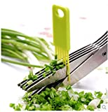 Shree Krishna 5 Blade Vegetable Scissors with Cleaning Comb/Ideal for Cut Herb Spices