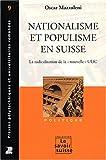 Nationalisme et populisme en Suisse - La radicalisation de la
