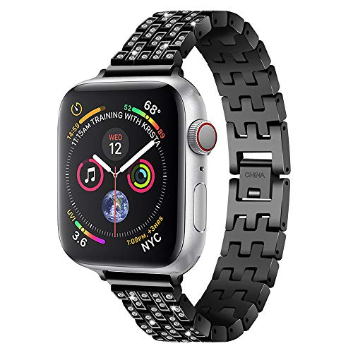 Metall mit Kristall Link Armband Uhrenarmband für Apple Watch Serie 4 40mm (Link Apple Watch-armband)