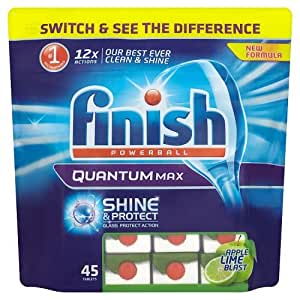 Finish Quantum Max Dishwasher Tablets Apple & Lime, 45 Tablets