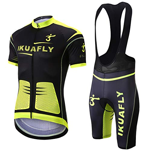 I Kua Fly Maillot Ciclismo, Maillot Ciclismo Ropa Ciclismo Reflectivo para Hombre, XL