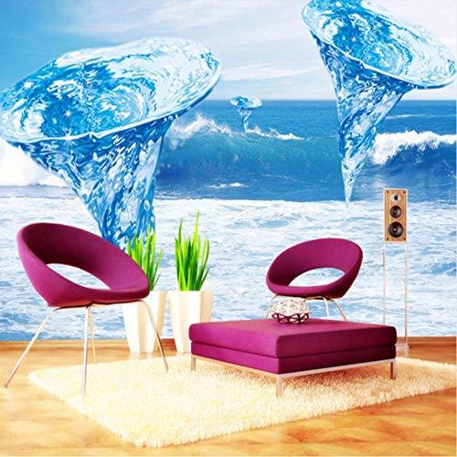 Ytdzsw Fototapete Schöne Blaue Tornado Ozean Wassersäule Balkon Wohnzimmer Dekoration Hintergrund Tapete Wandbild-400X280Cm