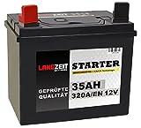 Langzeit Batterie 35Ah 12V Rasentraktor Starterbatterie Aufsitzmäher Rasenmäher Plus Pol links statt 26Ah 30Ah 32Ah