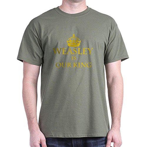 CafePress Weasley is Our King–T-Shirt Aus 100% Baumwolle Gr. Medium, Military Green