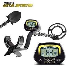 4YANG Detector de Metales subterráneo MD3030 Detector de Dinero de Cobre y Plata Profesional de Alta