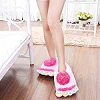 ZSL Pretty Funny Winter Home Indoor Toe Big Feet Warm Soft Plush Slippers Novelty Gift Adult Shoes