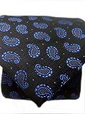 Blacksmith Slim Blue Formal Tie for Men - Paisley