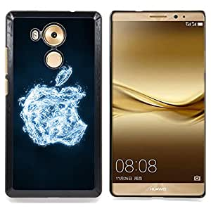 "For Huawei Mate 8 - ""crystal ice apple Design Cas Housse de protection Ultra Slim Snap on en plastique dur - God Garden -"