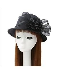 MAOXZI Lana Partido de Las Muchachas Las Mujeres Topper del Sombrero del  Cubo del Sombrero Flexible b709eda60be