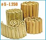 Italfrom Rollborder Bordure pour pelouse / jardin en bois de pin–L 250x H 40 cm