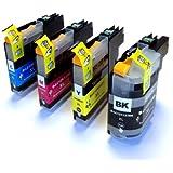 Set of 4 Compatible Ink Cartridges for Brother MFC J870DW