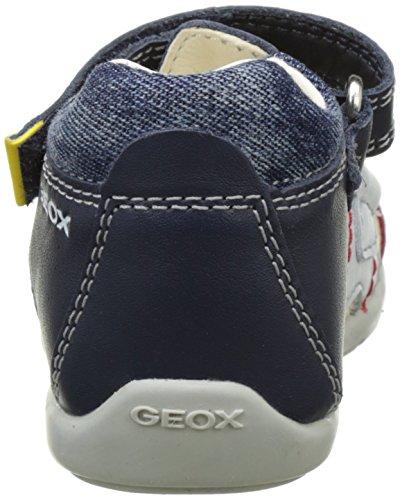 Geox B Kaytan C, Sandales premiers pas bébé garçon Bleu (Navy/Whitec4211)