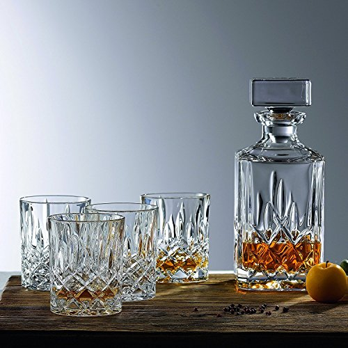 Beautiful Whiskey Dekanter und Gläser Bar Set, inklusive Whisky Dekanter und 6 Cocktail Gläser - 7-teiliges Set Glas Cocktail Decanter