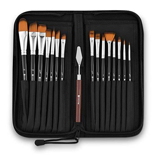 Acryl Pinsel für Acryl Malerei-Professional Art Supplies Malerpinsel Set mit leichter Pinselhalter für eine Tuschkasten-Dieser Detail Pinsel Set hilft Ihnen mehr und Reinigen weniger - Na Brush Kit