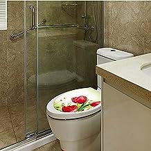 Sharplace DIY Aufkleber WC Sitz Folienaufkleber, 3D Toilettensitz Bad WC Dekor Stickers