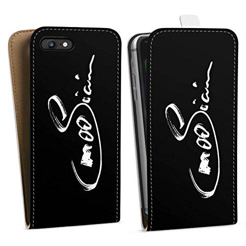Apple iPhone X Silikon Hülle Case Schutzhülle M00sician Fanartikel Merchandise Autogramm Downflip Tasche weiß