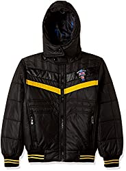 Fort Collins Boys Regular Fit Synthetic Jacket (76128_Black_28 (8 - 9 years))