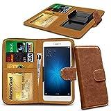 N4U Online® Brown Clip On Series PU Leather Wallet Book