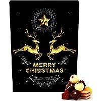 Hallingers Adventskalender Pralinenkalender Goldene Elche | Advents-Karton | 300g