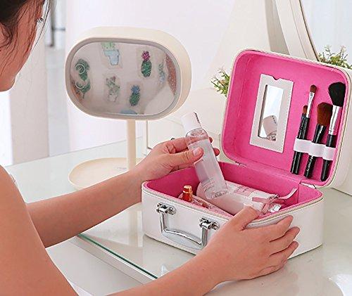 CLOTHES- Travel impermeabile Il piccolo sacchetto cosmetico tridimensionale di alta capacità fresca lavata il sacchetto di trucco del pacchetto ( Colore : Nero ) Rosa