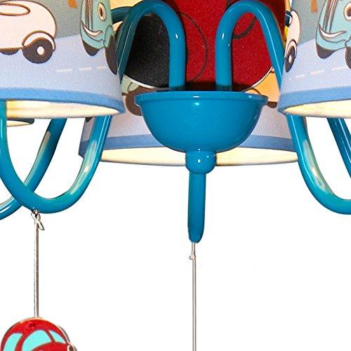 Jungen Cartoon Auto Schlafzimmer Kronleuchter Lampe Mediterraner Kid 's Room Anhänger Leuchten Kinder Pendelleuchte - 8