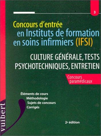 IFSI : culture générale, tests psychotechniques et entretien, numéro 3