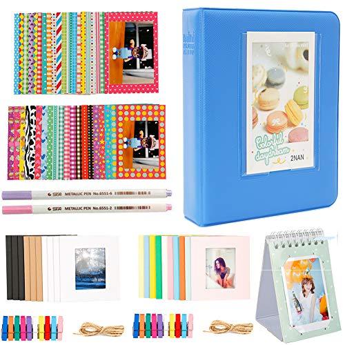 Annle 64 Taschen 3-Zoll-Fotoalbum Zubehör für Fujifilm Instax Mini-Kamera/HP Sprocket Fotodrucker/Polaroid Snap, Z2300, SocialMatic Sofortbildkameras und Zip Instant Printer -