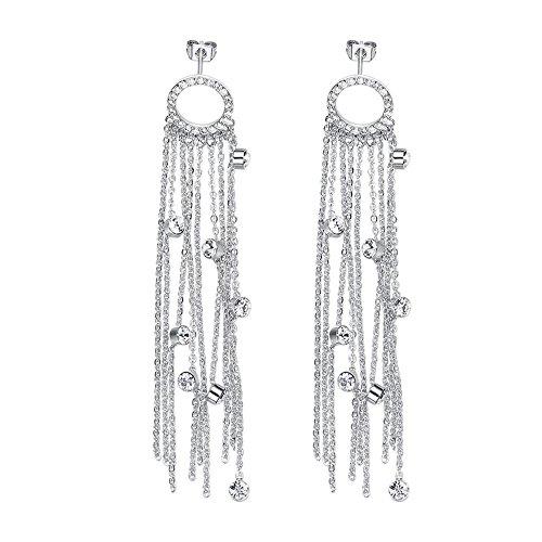 Haixin donna orecchini in cristallo swarovski elemento ornamenti