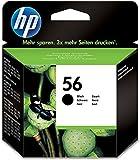 HP C6656AE 56 Cartucho de tinta original, negro, paquete de 1