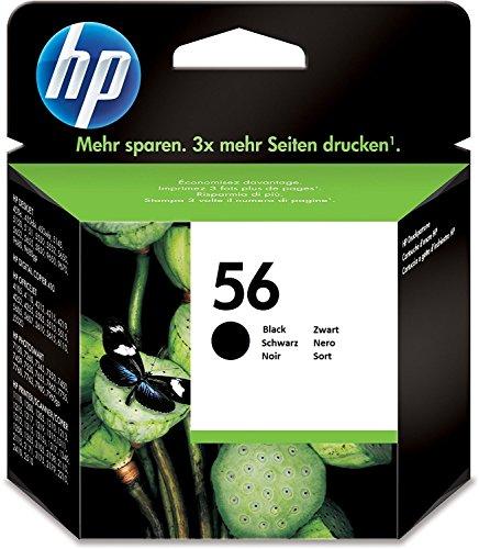 Cd Hp Drucker (HP 56 Schwarz Original Druckerpatrone für HP Deskjet, HP Photosmart, HP PSC, HP Officejet)