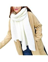 Vi.yo chaud écharpe d hiver unisexe épais longues écharpes tricotées doux  tricot silencieux b56c3d26023