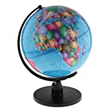 Homyl Englisch Version Tisch Globus Weltkugel Lernglobus Schülerglobus Rotierend - 25cm Blau