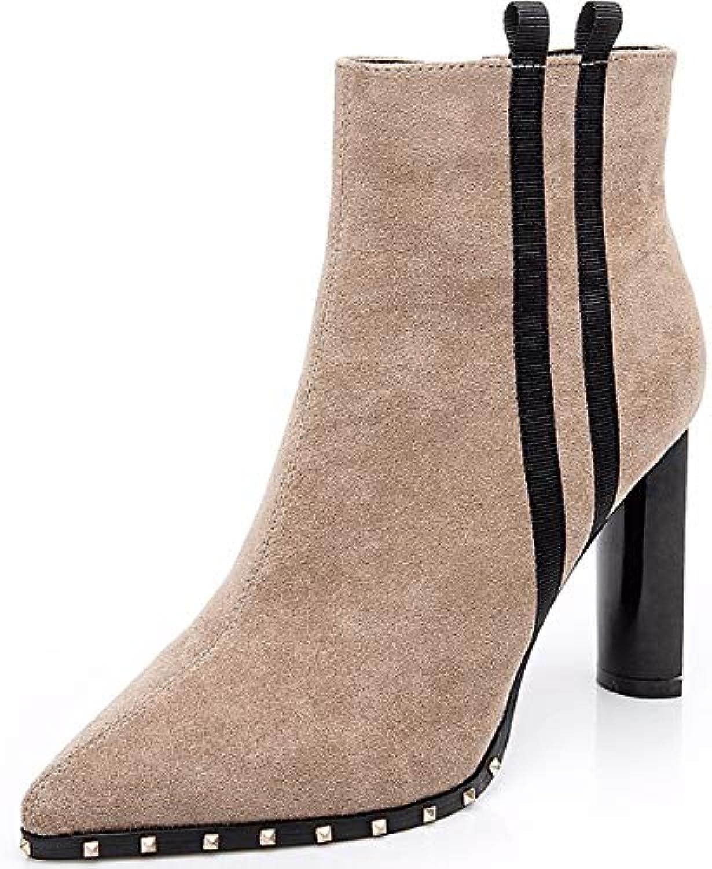 SFSYDDY Chaussures Populaires/Martin Est À Court De Bottes 9Cm Wild Wild Wild Talons Pointus des Talons Épaisse.B07HYDNGWYParent 73f914