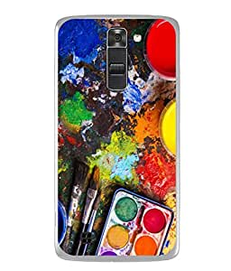 Digiarts Designer Back Case Cover for LG Stylus 2 (K520DY) (Zig Zag Cirlce Rectangle Square)