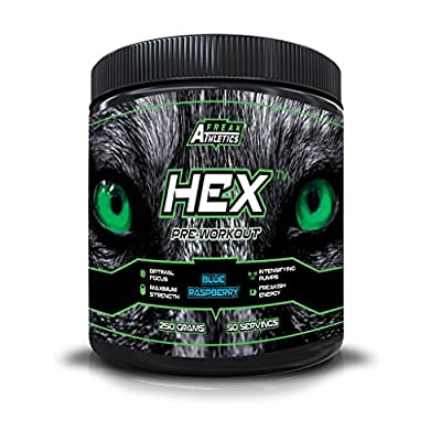 Hex Pre Workout - The Ultimate Pre Workout Supplement By Freak Athletics - Pre Workout Powder Available in Blue Raspberry & Fruit Punch from Freak Athletics