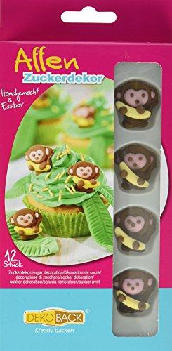 Dekoback Zuckerdekor Affen, 12 Stück, 1er Pack (1 x 5 g)