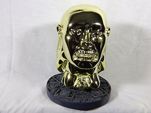 Aztec Golden Idol of Fertility Shiny Plated Version, With Jungle Stand