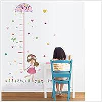 Pegatina medidor altura niña con paraguas para dormitorios bebes infantiles cuartos de juegos de OPEN BUY