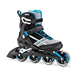 Rollerblade Inlineskate Fitness Recreational Macroblade 84Herren Erwachsene Fitness Inline-Skate-Räder, unisex, White/Cyan Blue