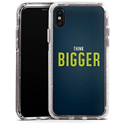 Apple iPhone X Bumper Hülle Bumper Case Glitzer Hülle Sprüche Phrases Sayings Bumper Case Glitzer rose gold