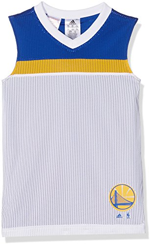 adidas Jungen Nba Golden State Warriors Winter Hoops Trikot, Blue, 176