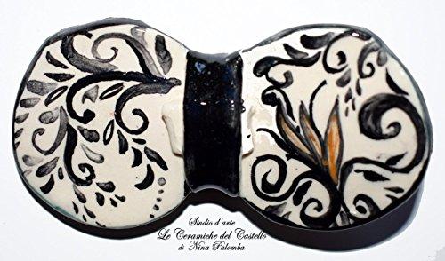 Fliege Keramik Antiquae Linie Piece Unique Hergestellt und von Hand bemalt Le Ceramiche del Castello Made in Italy Maße: 10 x 5 (Fliegenklatsche Kostüme)